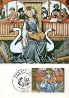 France 2033 Fdc Miniature XV Siecle, Cygne, Troubadour, Cithare, Harpe, Cornemuse - Arts