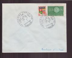 """Enveloppe Avec Cachet Commémoratif """" Centenaire Lamartine """" Du 3 Mai 1969 à Mâcon - Marcophilie (Lettres)"""
