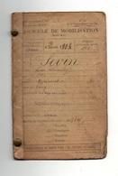 Fascicule De Mobilisation Classe De Recrutement 1904 Modèle A1 N°93 Corps D'armée D'Arras - Documents Historiques