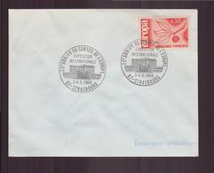 """Enveloppe Avec Cachet Commémoratif """" 20 ème Anniversaire Du Conseil De L'Europe """" Du 3 Mai 1969 à Strasbourg - Marcophilie (Lettres)"""