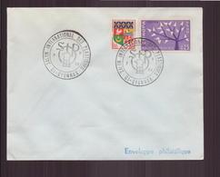 """Enveloppe Avec Cachet Commémoratif """" Salon International Des Plastiques """" Du 7 Mai 1969 à Oyonnax - Marcophilie (Lettres)"""