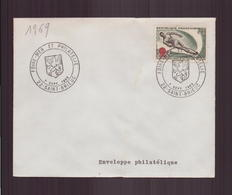"""Enveloppe Avec Cachet Commémoratif """" Foire-mer Et Philatélie """" Du 7 Septembre 1969 à Saint-Brieuc - Marcophilie (Lettres)"""