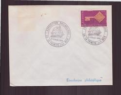 """Enveloppe Avec Cachet Commémoratif """" Exposition Philatélique """" Du 9 Août 1969 à La Trinité-sur-mer - Marcophilie (Lettres)"""