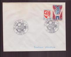 """Enveloppe Avec Cachet Commémoratif """" 10 ème Grand Prix Des 3 Heures """" Du 27 Juillet 1969 à Contres - Marcophilie (Lettres)"""