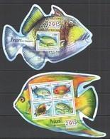 ST1547 2015 S. TOME E PRINCIPE FAUNA FISH & MARINE LIFE PEIXES DE SINGAPURA KB+BL MNH - Marine Life