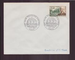 """Enveloppe Avec Cachet Commémoratif """" XXIII éme Salon Philatélique D'automne """" Du 7 Novembre 1969 à Paris - Marcophilie (Lettres)"""