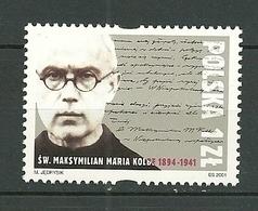 POLAND MNH ** 3676 Maximilien KOLBE Prêtre Tué à AUSCHWITZ Curé Religion Franciscain Martyr De La Foi - 1944-.... République
