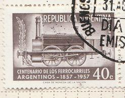 PIA - ARGENTINA - 1957 : Centenario Delle Ferrovie Argentine - (Yv 577 ) - Usati