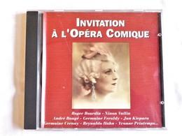 Invitation à L'Opéra Comique, - Opéra & Opérette