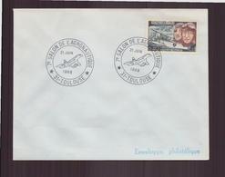 """Enveloppe Avec Cachet Commémoratif """" 7 ème Salon De L'aéronautique """" Du 21 Juin 1969 à Toulouse - Marcophilie (Lettres)"""