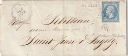 Néré (16) : T. 22 + GC 2620 / 22 + OR (Fontaine Chalendray) Pour St. Jean D'Angély.. - 1849-1876: Période Classique