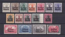 Bayern - 1919 - Michel Nr. 136/151  - Postfrisch/Ungebr./Gest. - Bayern