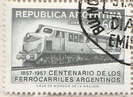 PIA - ARGENTINA - 1957 : Francobollo Di P.A. - Centenario Delle Ferrovie Argentine - (Yv P.A 47 ) - Usati