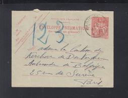Envelope Pneumatique 1936 Paris - Ganzsachen