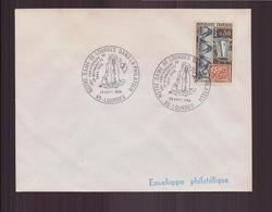 """Enveloppe Avec Cachet Commémoratif """" Notre-Dame De Lourdes Dans La Philatélies """" Du 29 Septembre 1969 à Lourdes - Marcophilie (Lettres)"""