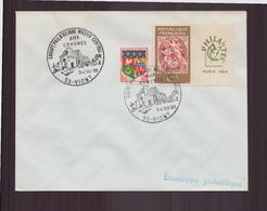 """Enveloppe Avec Cachet Commémoratif """" XIX ème Groupt Philatélique Massif Central """" Du 3 Mai à Vichy - Marcophilie (Lettres)"""