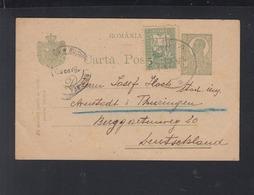 Romania Stationery 1920 Sinaia To Germany - 1918-1948 Ferdinand, Carol II. & Mihai I.