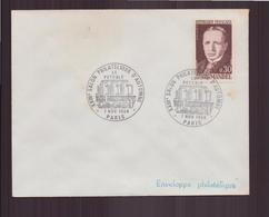 """Enveloppe Avec Cachet Commémoratif """" XXIII ème Salon Philatélique D'automne """" Du 7 Novembre 1969 à Paris - Marcophilie (Lettres)"""