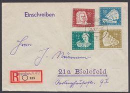 """MiNr. 256/60 """"Bach"""", Satz-R-Brief Mit Ankunft - [6] Repubblica Democratica"""