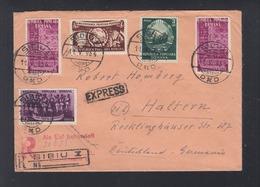Romania Expres Cover 1954 Sibiu To Germany - 1948-.... Republiken