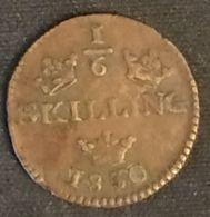 SUEDE - SWEDEN - ⅙ - 1/6 SKILLING - Carl XIV Johan - KM 625 - Suède