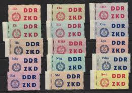 "ZKD: 1/15 ""Laufkontrollzettel"", Teils Randstücke, ** - Service"