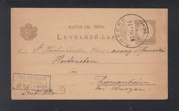 Hungary Stationery 1897 Ö-Becse To Germany - Ganzsachen