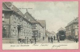 67 - GRUSS Aus BISCHHEIM Près STRASBOURG - Landstrasse - Tram - Tramway - Strassenbahn - France