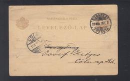 Hungary Stationery Renaissance 1899 To Germany - Ganzsachen