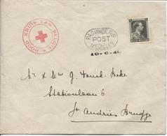 TP 480 S/L. Rood Kruis Van België C.PADVINDERS POST MECHELEN 19/6/40 > St.Andries Brugge  RARE ZELDZAAM (SCOUTS) - Weltkrieg 1939-45