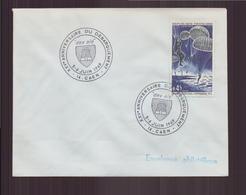 """Enveloppe Avec Cachet Commémoratif """" XXV ème Anniversaire Du Débarquement """" Du 5 Juin 1969 à Caen - Marcophilie (Lettres)"""