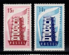 YV 1076 & 1077 N** Europa Cote 8,50 Euros - France