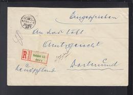 Hungary Registered Cover 1938 Budapest To Dortmund - Ungarn