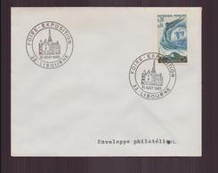 """Enveloppe Avec Cachet Commémoratif ' Foire-Exposition """" Du 31 Août 1969 à Libourne - Marcophilie (Lettres)"""