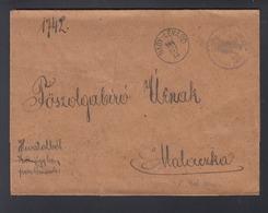 Hungary Cover Nagylevard To Malaczka - Briefe U. Dokumente