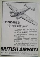 Publicité BRITISH AIRWAYS - Coupure De Presse De 1936 - Advertenties