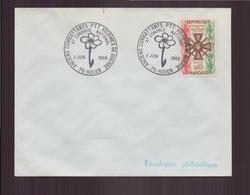 """Enveloppe Avec Cachet Commémoratif """" X ème Congrès Anciens Combattants PTT Victimes De Guerre """" Du 3 Juin 1969 à Rouen - Marcophilie (Lettres)"""