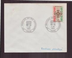 """Enveloppe Avec Cachet Commémoratif """" Expo Philatélique Des Deux Anniversaires """" Du 9 Novembre 1969 à Paris - Marcophilie (Lettres)"""