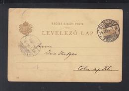 Hungary Stationery 1899 Nögrad To Germany - Ganzsachen