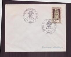 """Enveloppe Avec Cachet Commémoratif """" 7 ème Foire Des Antiquités Village Suisse """" Du 1 Octobre 1969 à Paris - Marcophilie (Lettres)"""
