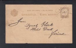 Hungary Stationery 1893 Slatina To Fiume - Briefe U. Dokumente