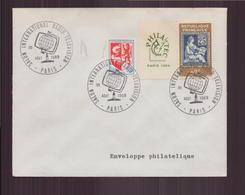 """Enveloppe Avec Cachet Commémoratif """" Salon International Radio Télévision """" Du 30 Août 1969 à Paris - Marcophilie (Lettres)"""