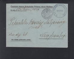 Hungary Ukraine Cover 1939 Gyertyanliget Kobylezka Poljana - Ungarn