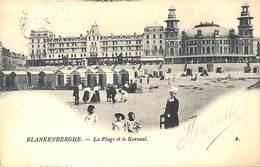 Blankenberghe - La Plage Et Le Kursaal (animée Th Van Den Heuvel, Précurseur) - Blankenberge