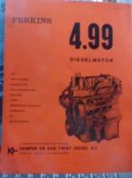 PERKINS Diesel 4.99 Moteurs Diesel Pour Automobiles En NEERLANDAIS Brochure Catalogue Prospekt - LKW