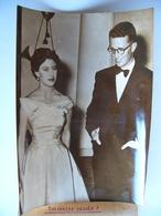 Photo De Presse 1958 La PRINCESSE MARGARET Et Le ROI BAUDOUIN Belgique Great Britain Belgium Grande Bretagne - Célébrités