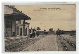 54 ROYAUMEIX PRES TOUL ILLUSTRE LA GARE ET LE TRAIN DE TOUL A THIAUCOURT LOCOMOTIVE - France