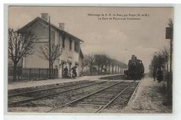 54 PRAYE SOUS VAUDEMONT PELERINAGE NOTRE DAME DE SION LA GARE INTERIEURE TRAIN LOCOMOTIVE - Frankreich