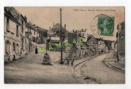 CPA DE 1909 - 60 - CREIL - RUE DES TUFS ET CAVEE DE SENLIS - Creil