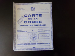 Carte De La Corse Préhistorique , 1980 - Maps/Atlas